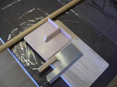 麺棒、麺切り包丁、こま板、まな板