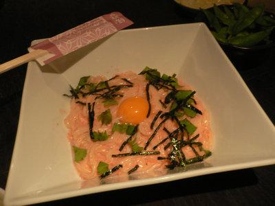 明太クリームのカルボうどん@食楽厨房 黄金の蔵(新宿)