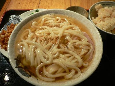 かけうどん+ご飯@エン座(石神井台)