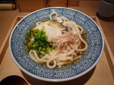 焼き鮎と茗荷の冷やしうどん@嘉禾屋 横浜シァル店(横浜)