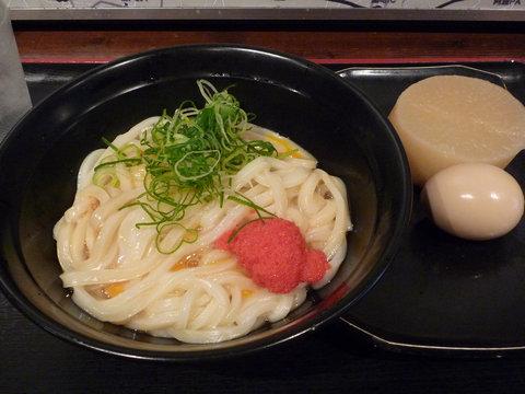 めんたま(大)+おでん(大根、玉子)@東京麺通団(新宿)