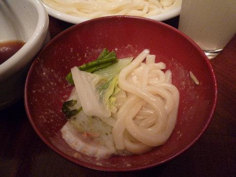 鍋のおうどん@那須旅行コテージ