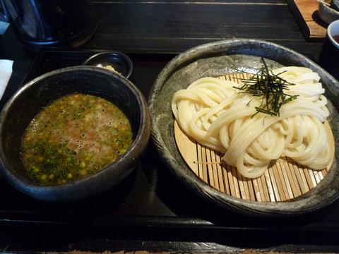 葱と胡麻のつけ麺@山元麺蔵(東山)
