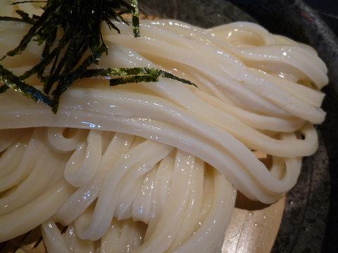 葱と胡麻のつけ麺、アップ@山元麺蔵(東山)