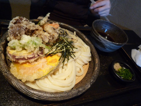 旬野菜天ざる@山元麺蔵(東山)