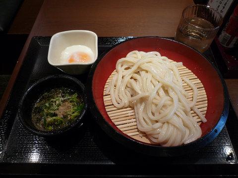 ざるうどん(並)+温泉玉子@丸亀製麺 大久保店(大久保)