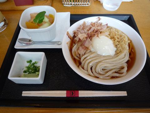 半卵ぶっかけうどん(デザートランチ)@東京うどん 天神(湯島)
