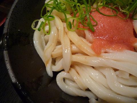 めんたい醤油うどん(小)@東京麺通団(新宿)、アップ