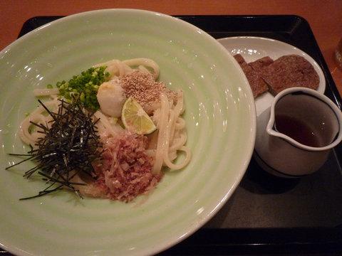 冷しじゃこ天ぶっかけ@udon dining 讃楽(虎ノ門)