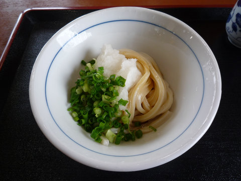 生醤油うどん(小)@讃岐うどん 中川屋(福俵)
