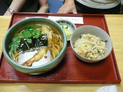 天ぷらうどんセット@河道屋倖松庵(北白川)