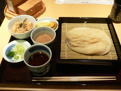 せいろの二味(ごま味噌つゆ・醤油)大盛@銀座佐藤養助(銀座)