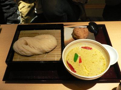 タイ風グリーンカレーのつけ麺