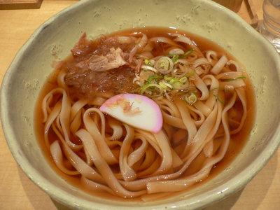 かけきしめん(醤油、温)@驛釜きしめん(名古屋駅)